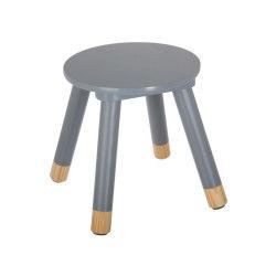 Tabouret douceur gris pour enfant en bois
