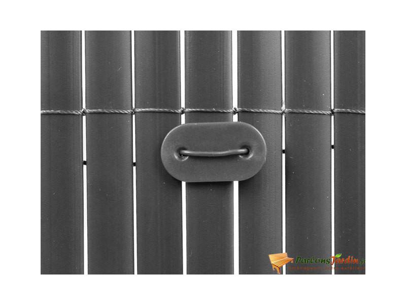 Nature kit de fixation pour clôture de jardin 27 pcs gris 419793