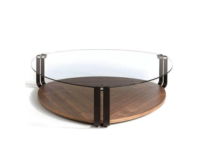 Paris prix - table basse bois & verre \