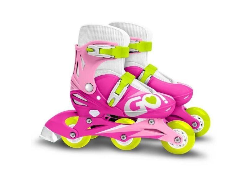 Roller in line patins en ligne 2 en 1 trois roues girl taille 27-30 skids control
