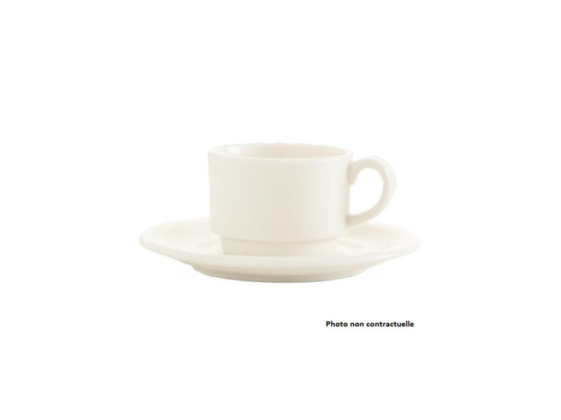 Tasse empilable porcelaine crema 230 ml - lot de 12 - fine dine - porcelaine 23 cl