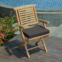Coussin chocolat pour chaises et fauteuils pliants