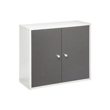 meuble haut salle bain essenzo gris blanc vente de. Black Bedroom Furniture Sets. Home Design Ideas