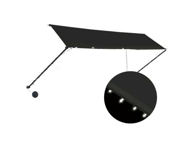 Vidaxl auvent rétractable avec led 400x150 cm anthracite 145920