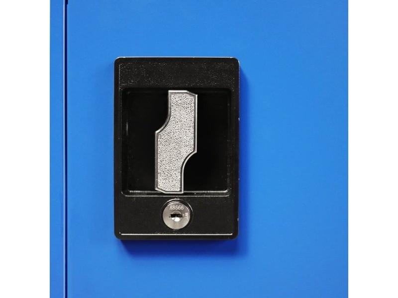 Icaverne - casiers et armoires de rangement ligne armoire de bureau métal 90 x 40 x 140 cm gris et bleu