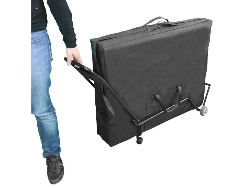 Chariot à roulettes pliable et transportable pour table de massage EGK611