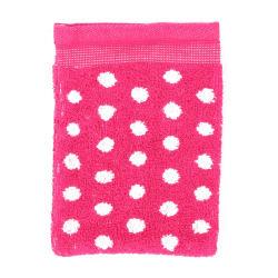 Gant de toilette 16x21 cm graphic dots rose 550 g/m2