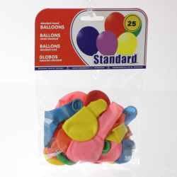 25 ballons gonflables - multicolore