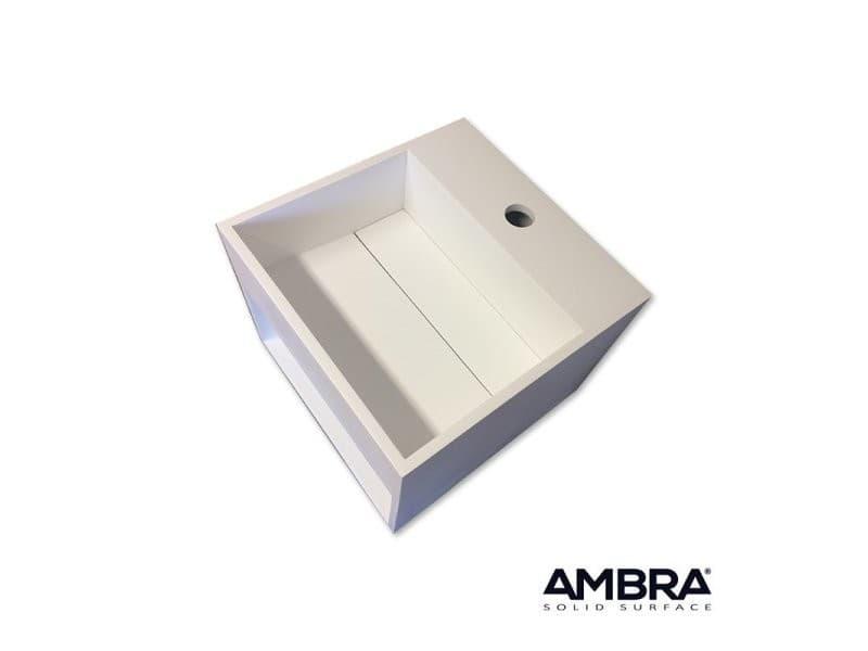 lave mains suspendu vasque carr e en solid surface car a vente de ambra conforama. Black Bedroom Furniture Sets. Home Design Ideas