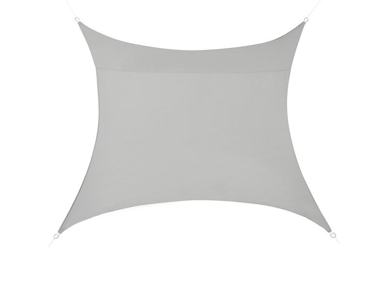 [en.casa] voile d'ombrage toile d'ombrage toile de protection polyester polyuréthane quadratique gris clair 4x4 m