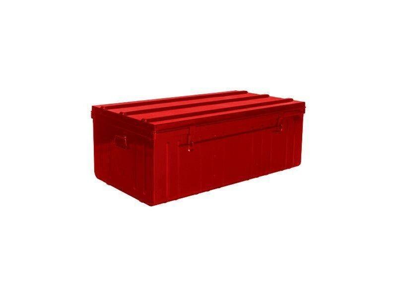 malle de rangement en m tal rouge vente de pierre henry. Black Bedroom Furniture Sets. Home Design Ideas
