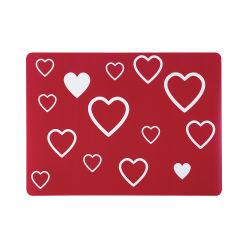 Set de table pp imprimé petits coeurs rouge 33 x 45 les ateliers du linge