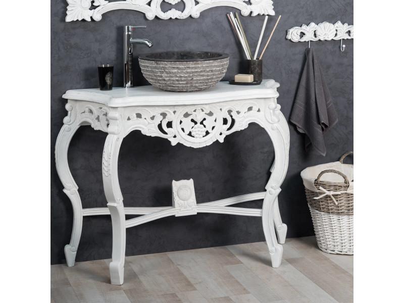 meuble salle de bain patin blanc baroque 100 31113. Black Bedroom Furniture Sets. Home Design Ideas