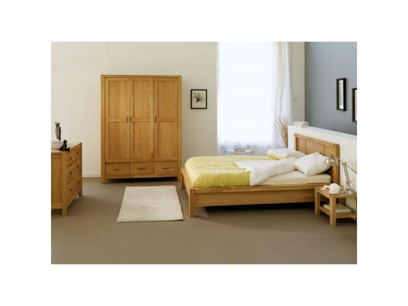 Chambre adulte compl te 140 190 ch ne thania l 140 x for Chambre complete adulte 140