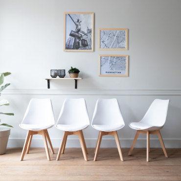 Lot de 10 chaises scandinaves nora blanches avec coussin-V819831077