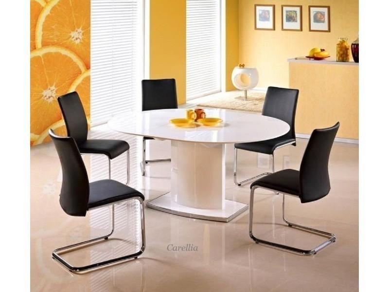 Table a manger ovale extensible – l : 120 ÷ 160 cm x p : 120 cm x h : 76 cm