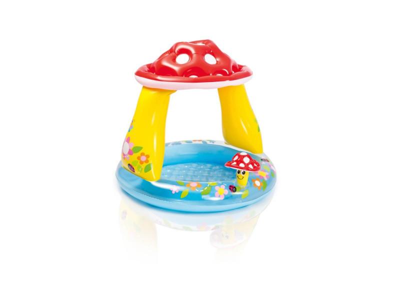 Piscine pare-soleil gonflable champignon