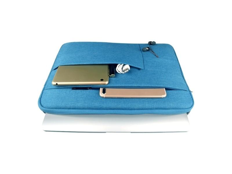 98c91387bd Sacoche pour ordinateur portable bleu 14 pouces et ci-dessous macbook,  samsung, lenovo, sony, dell alienware, chuwi, asus, hp universel poches  multiples ...
