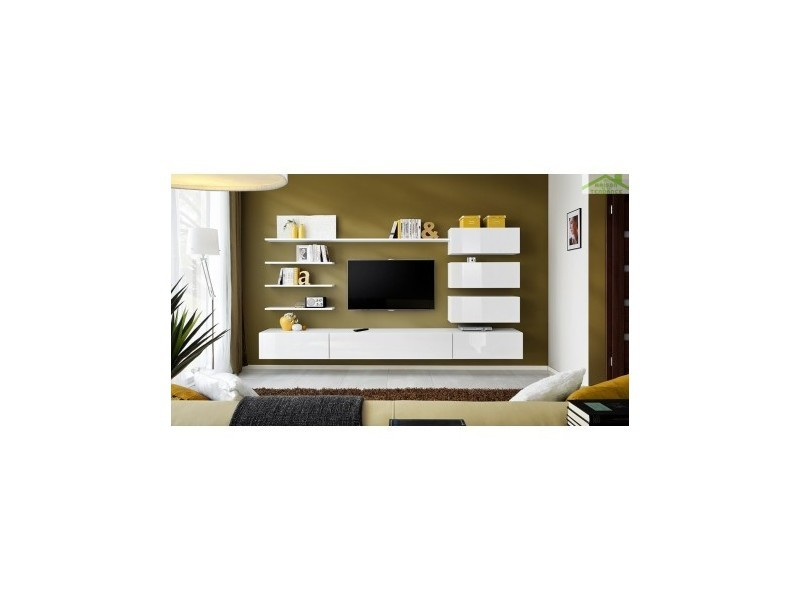Ensemble meuble tv mural italia 300x170x40cm 24 WW IT