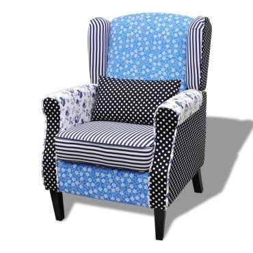 Vidaxl fauteuil avec design de patchwork tissu 240882