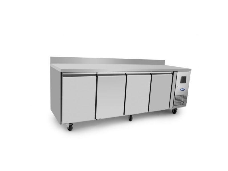 Table réfrigérée négative 4 portes gn1/1 - avec dosseret - atosa - r290 4 portes pleine