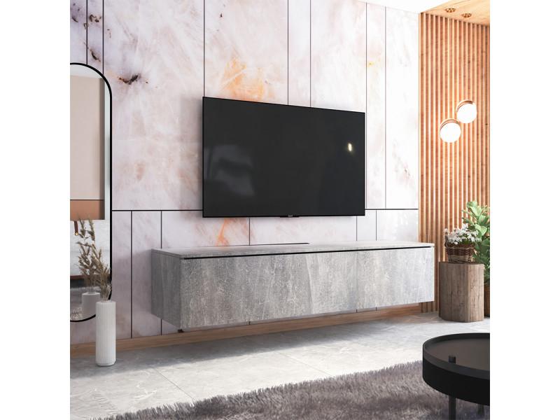 Meuble tv - skylara - 180 cm - béton