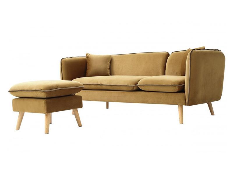 Canapé d'angle modulable tissu beige - Vente de HOUSE AND ...