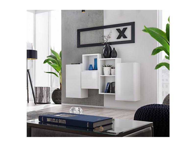 Ensemble de rangement mural - blox sb iii - 4 rangements verticaux - blanc