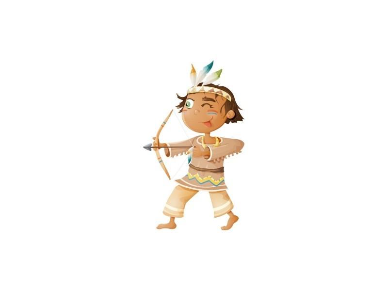 Sticker indiens : prêt à tirer - format : 23 x 40 cm