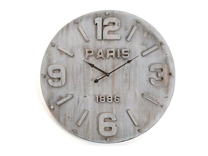 Horloges murales et de table chic horloge murale bois mdf/métal (4,5 x 60 x 60 cm)