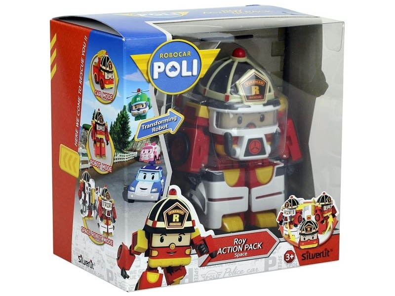 Robocar poli - figurine transformable roy action pack space