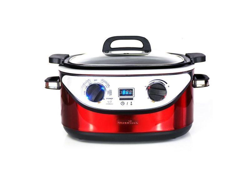 Multi-cuiseur 8 programmes kitchencook 5.6l inox