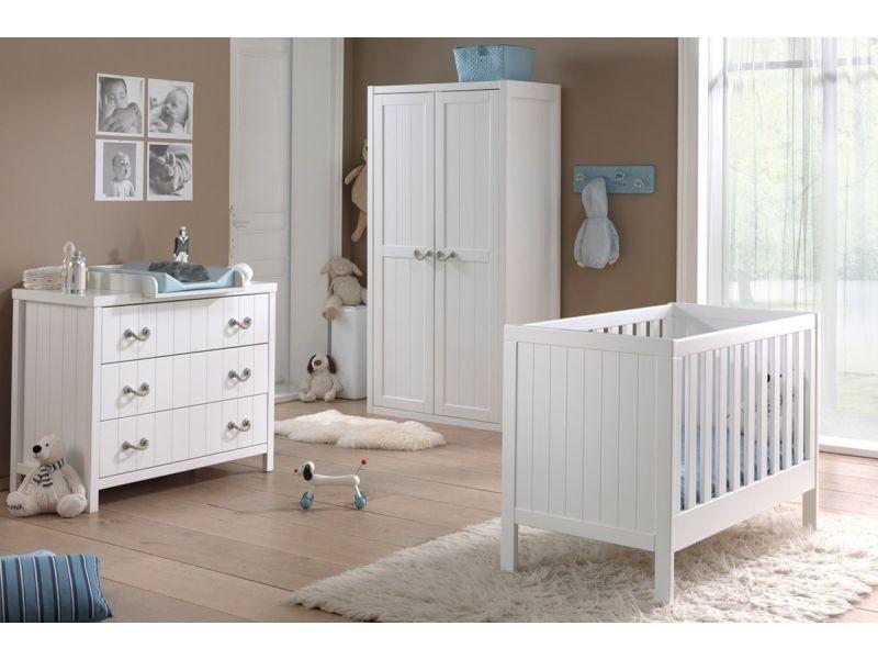 Ensemble 4 pièces pour chambre bébé avec lit à barreaux ...