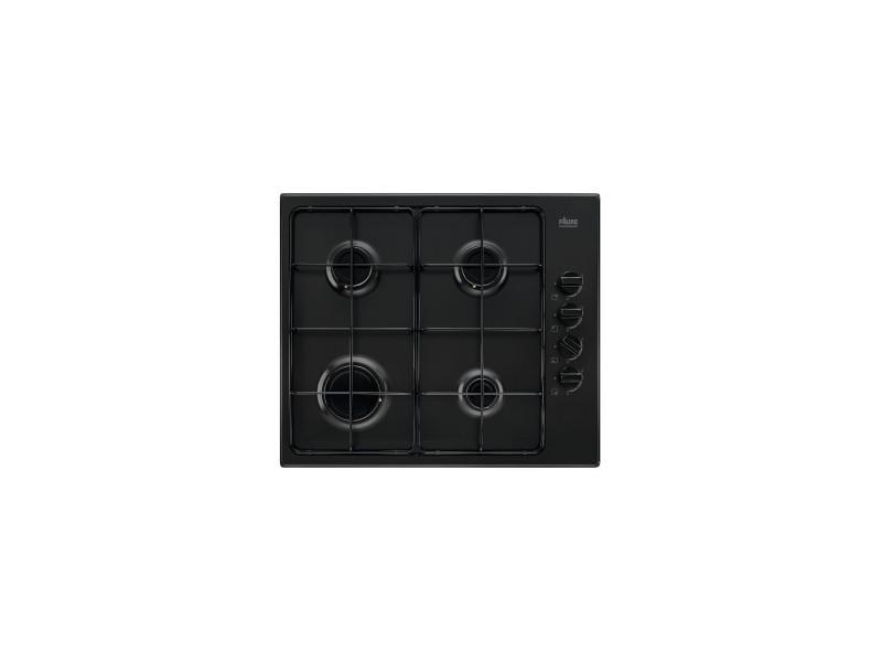 Table de cuisson gaz - 59 cm - 4 foyers - encastrement facile - design ultra fin - noir
