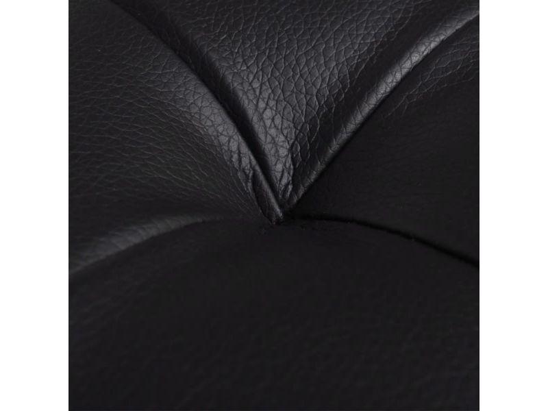Icaverne - bancs coffres gamme pouf de rangement cuir synthétique noir