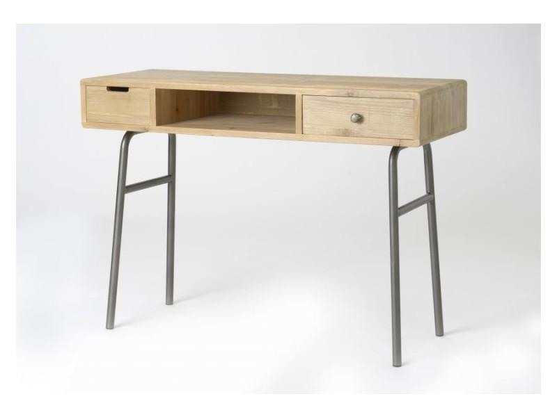 Bureau vintage bois métal hugo vente de hellin conforama