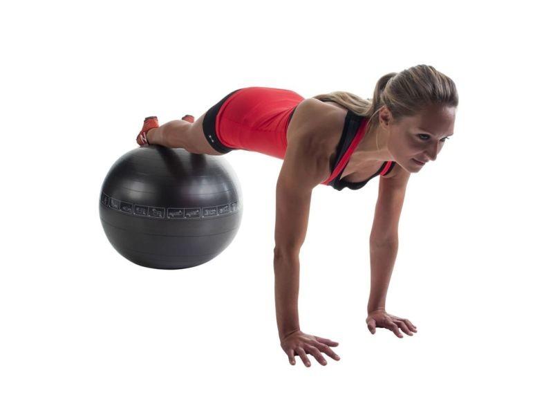 Pure2improve ballon d'exercice 65 cm noir 408919