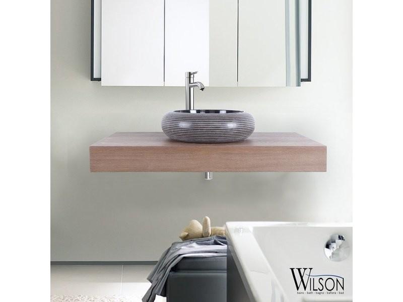 plan suspendu pour vasque 90 cm ch ne rustique monica. Black Bedroom Furniture Sets. Home Design Ideas