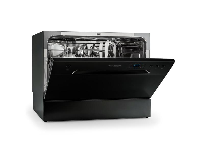 Klarstein amazonia 6 lave-vaisselle de table a+ 1380w 6 couverts 49 db noir
