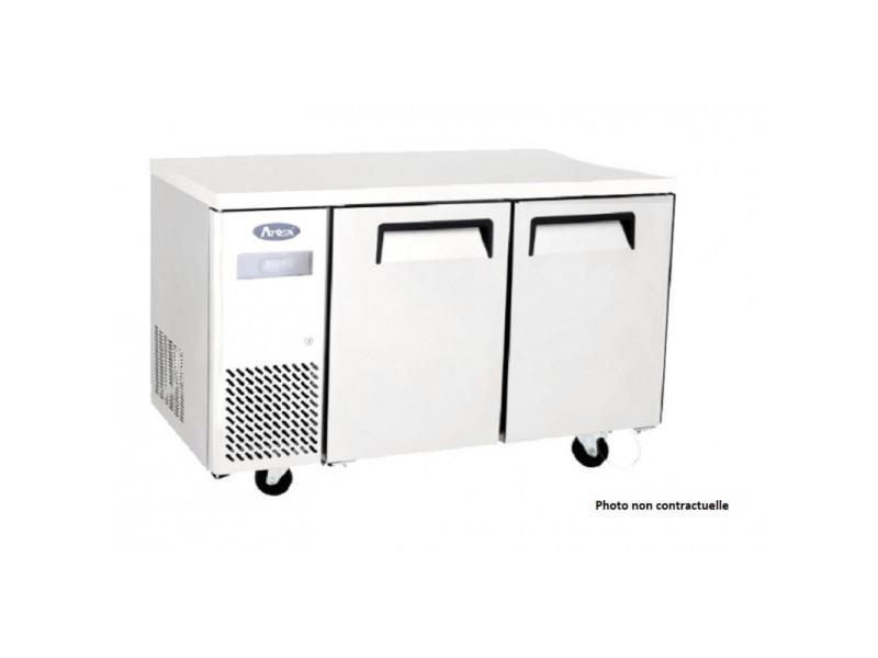 Table réfrigérée négative compacte 2 portes avec dosseret - 270 à 370 l - atosa - r2902 portes370pleine
