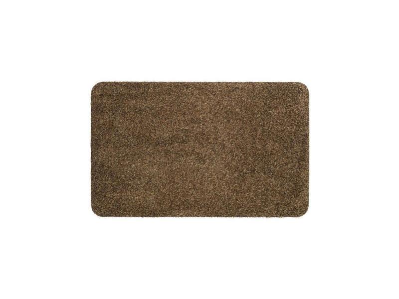 Tapis d'entrée uni - 40x60 cm - style classique - coloris brun