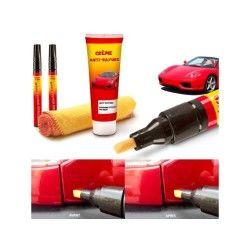 Kit 2 stylos et gel efface-rayures carrosserie auto