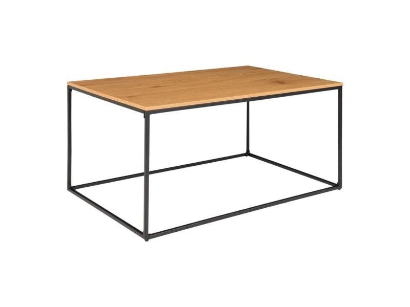 Table basse rectangulaire en bois et métal fify 2101500
