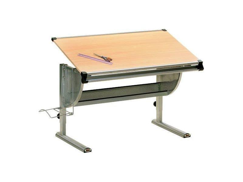 Bureau enfant en bois. lit mezzanine noah avec bureau et rangements