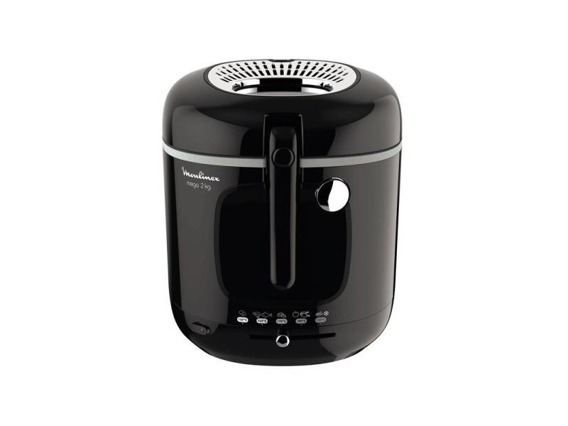 Friteuse classique xl 1800wnoir familiale 2kg/3,3l cuve couvercle panier et filtre compatibles lave-vaisselle