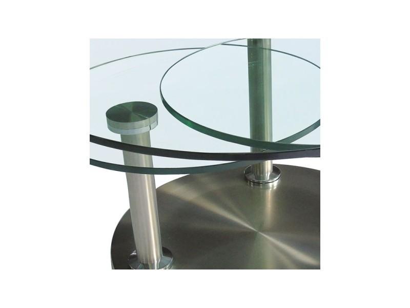 table basse articul e verre et m tal trygo l 85 x l 85 x h 42 neuf vente de. Black Bedroom Furniture Sets. Home Design Ideas