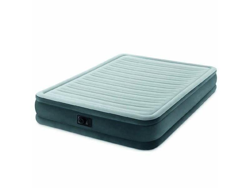 Lit gonflable - airbed matelas comfort plush fiber tech 152x203 - gonflable - fermeté réglable - 33 cm - electrique -2 personnes