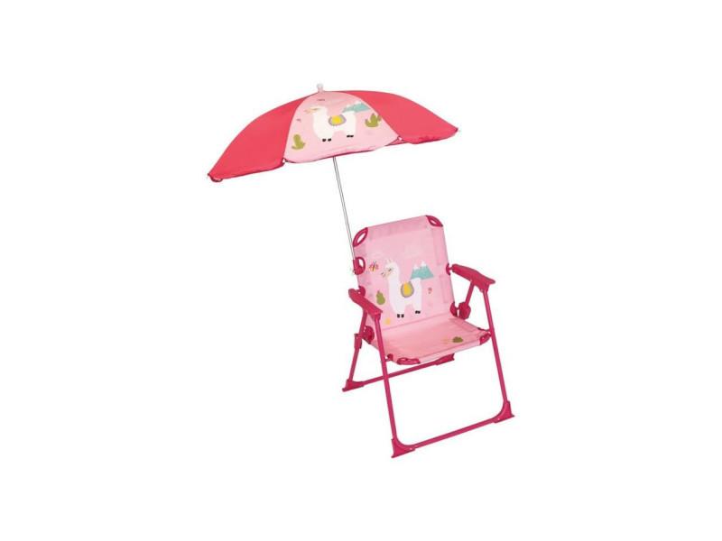 713142 lola lama chaise pliable avec parasol pour enfant FUN3700057131425