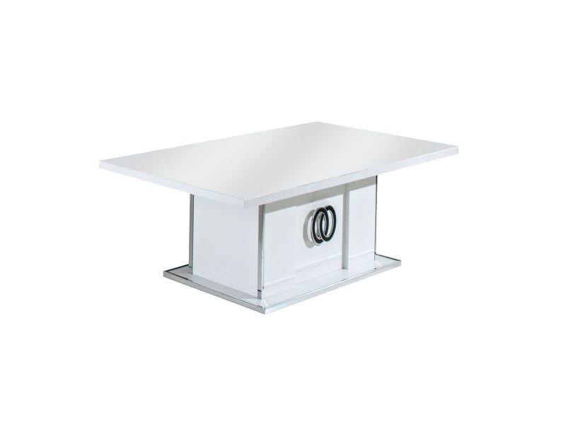 Aglae - table basse rectangulaire laqué blanc