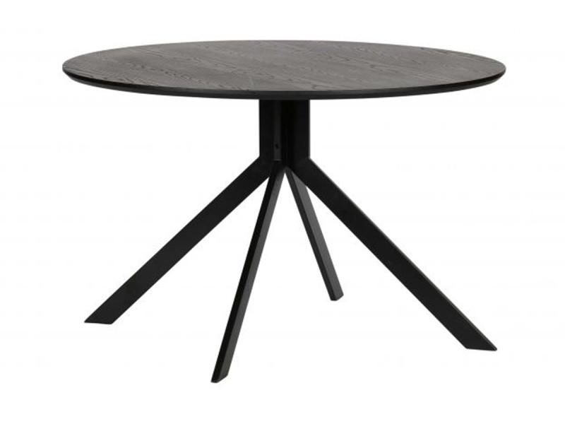 Table coloris noir en mdf - dim: 75 x 120 x 120 cm -pegane-
